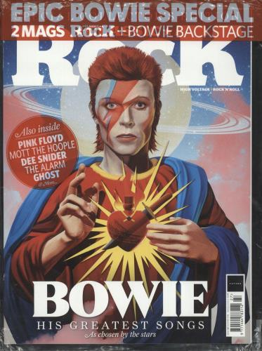 David Bowie Classic Rock + Bowie Backstage magazine UK BOWMACL736805