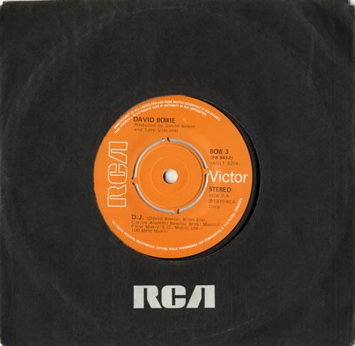 "David Bowie D.J. - 4pr 7"" vinyl single (7 inch record) UK BOW07DJ599855"