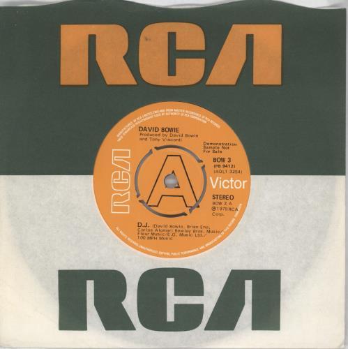 "David Bowie D.J. - A Label 7"" vinyl single (7 inch record) UK BOW07DJ767226"