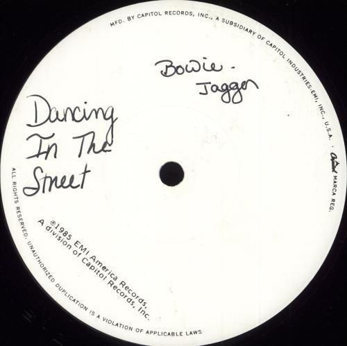 "David Bowie Dancing In The Street - White Label 12"" vinyl single (12 inch record / Maxi-single) US BOW12DA22912"