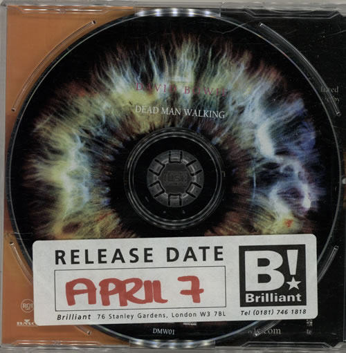 """David Bowie Dead Man Walking CD single (CD5 / 5"""") UK BOWC5DE83930"""