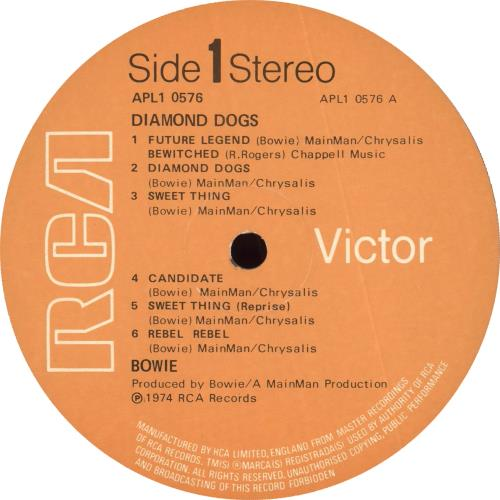 David Bowie Diamond Dogs - 1st - VG vinyl LP album (LP record) UK BOWLPDI708154