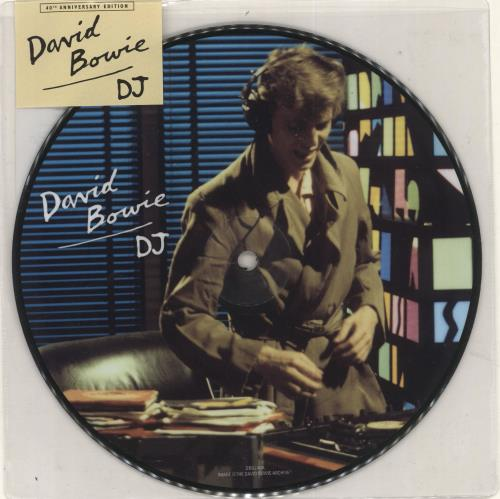 "David Bowie DJ - 40th Anniversary 7"" vinyl picture disc 7 inch picture disc single UK BOW7PDJ724832"