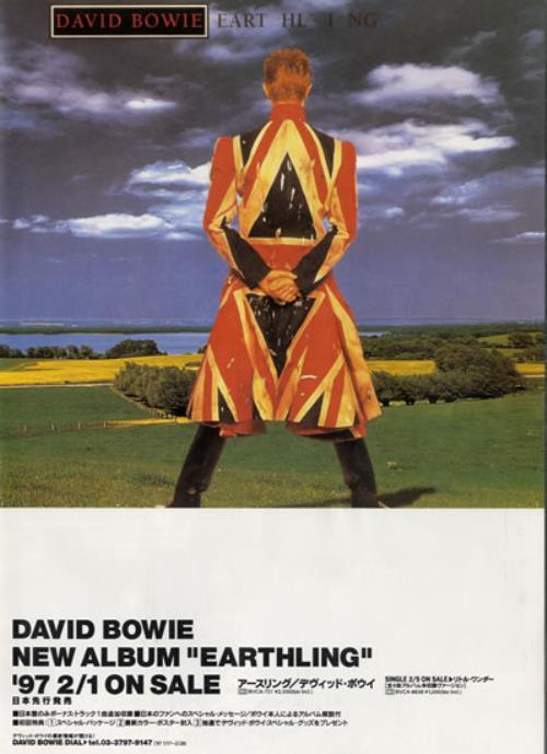 David Bowie Earthing Fold Out Handbill handbill Japanese BOWHBEA557660