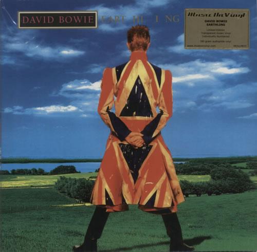 David Bowie Earthling - Green vinyl LP album (LP record) UK BOWLPEA604946