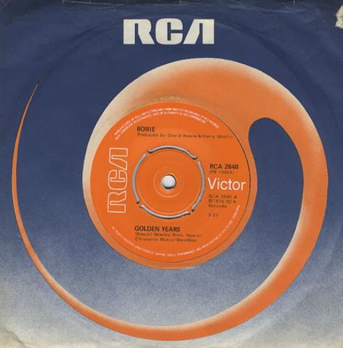 "David Bowie Golden Years - 4pr 7"" vinyl single (7 inch record) UK BOW07GO275192"