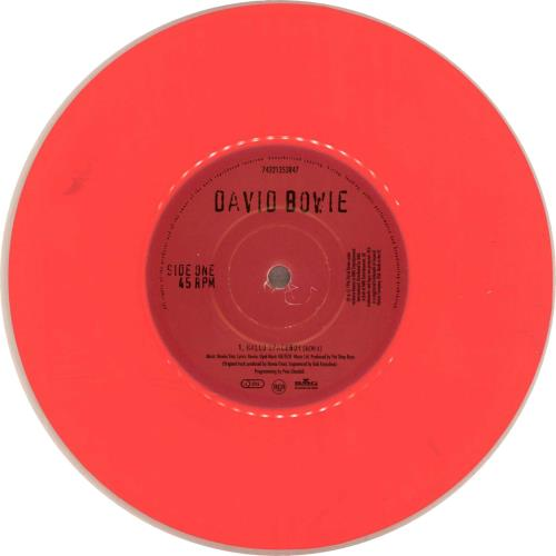 """David Bowie Hallo Spaceboy - Pink Vinyl 7"""" vinyl single (7 inch record) UK BOW07HA60698"""