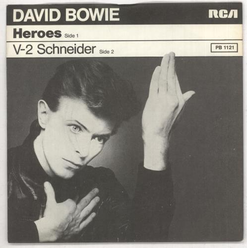 """David Bowie Heroes + p/s - wide 7"""" vinyl single (7 inch record) German BOW07HE738321"""
