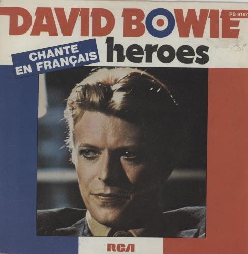 """David Bowie Heroes - EX 7"""" vinyl single (7 inch record) French BOW07HE552480"""