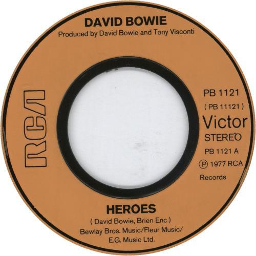 "David Bowie Heroes - Jukebox 7"" vinyl single (7 inch record) UK BOW07HE624584"