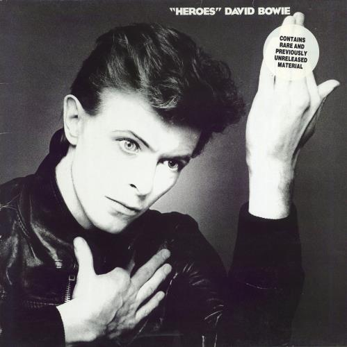 David Bowie Heroes - Stickered sleeve - EX vinyl LP album (LP record) UK BOWLPHE768965