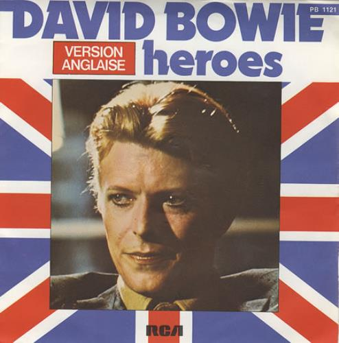 """David Bowie Heroes 7"""" vinyl single (7 inch record) French BOW07HE357070"""