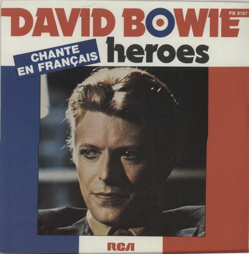 """David Bowie Heroes 7"""" vinyl single (7 inch record) French BOW07HE82002"""