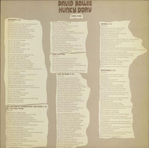 David Bowie Hunky Dory - Mainman - EX vinyl LP album (LP record) UK BOWLPHU646500