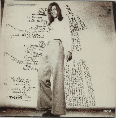 David Bowie Hunky Dory - VG vinyl LP album (LP record) Canadian BOWLPHU569574
