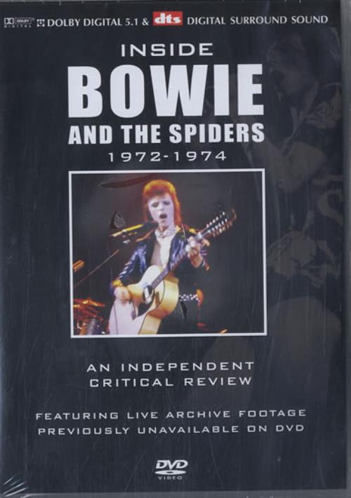David Bowie Inside Bowie And The Spiders 1972-1974 - Sealed DVD UK BOWDDIN319318