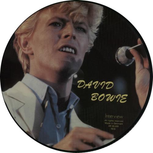 David Bowie Interview picture disc LP (vinyl picture disc album) Danish BOWPDIN302655