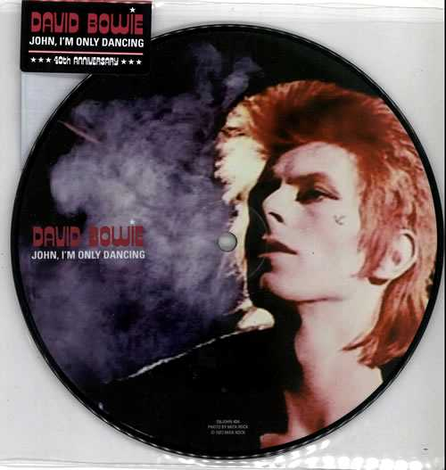 """David Bowie John, I'm Only Dancing - Sealed 7"""" vinyl picture disc 7 inch picture disc single UK BOW7PJO570239"""