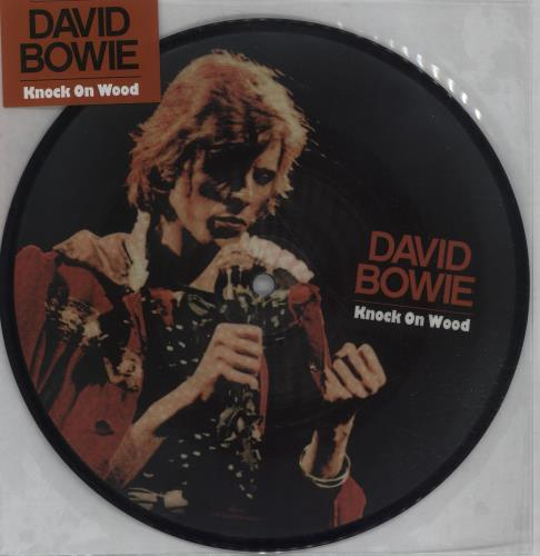 """David Bowie Knock On Wood - 40th Anniversary + Repro Ticket 7"""" vinyl picture disc 7 inch picture disc single UK BOW7PKN675594"""