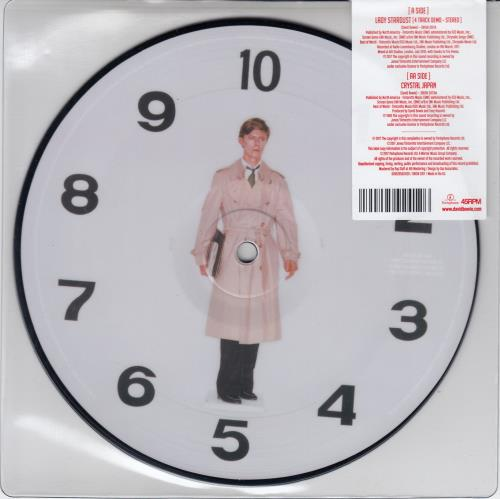 """David Bowie Lady Stardust / Crystal Japan + Bag 7"""" vinyl picture disc 7 inch picture disc single Japanese BOW7PLA665762"""