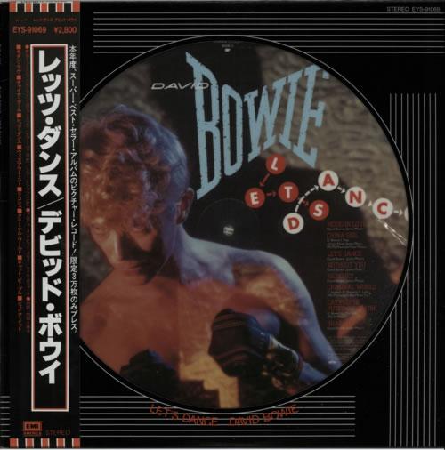 David Bowie Lets Dance + Lyric Insert & Obi picture disc LP (vinyl picture disc album) Japanese BOWPDLE25219