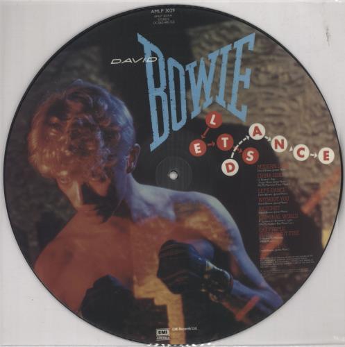 David Bowie Let's Dance picture disc LP (vinyl picture disc album) UK BOWPDLE16244