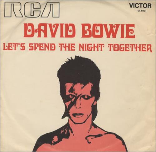 "David Bowie Let's Spend The Night Together 7"" vinyl single (7 inch record) Brazilian BOW07LE419019"