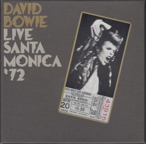 David Bowie Live Santa Monica '72 CD album (CDLP) UK BOWCDLI650540