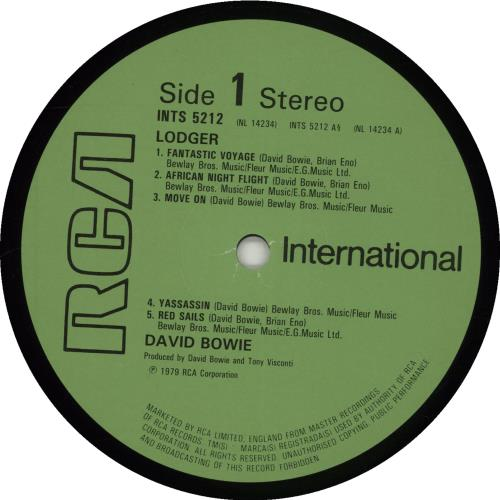 David Bowie Lodger vinyl LP album (LP record) UK BOWLPLO336846