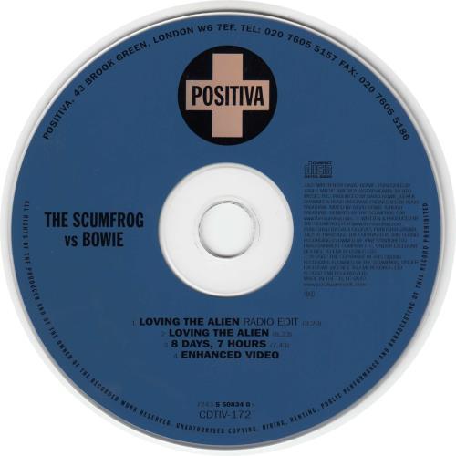 "David Bowie Loving The Alien CD single (CD5 / 5"") UK BOWC5LO212599"