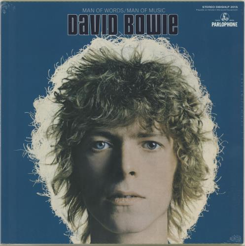 David Bowie Man Of Words / Man Of Music - Blue Vinyl + Sealed vinyl LP album (LP record) Dutch BOWLPMA652339