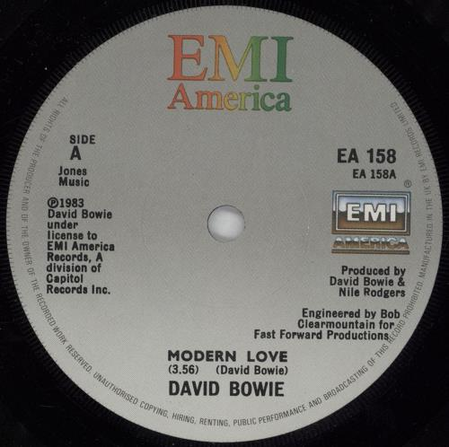 "David Bowie Modern Love - Solid 7"" vinyl single (7 inch record) UK BOW07MO609173"