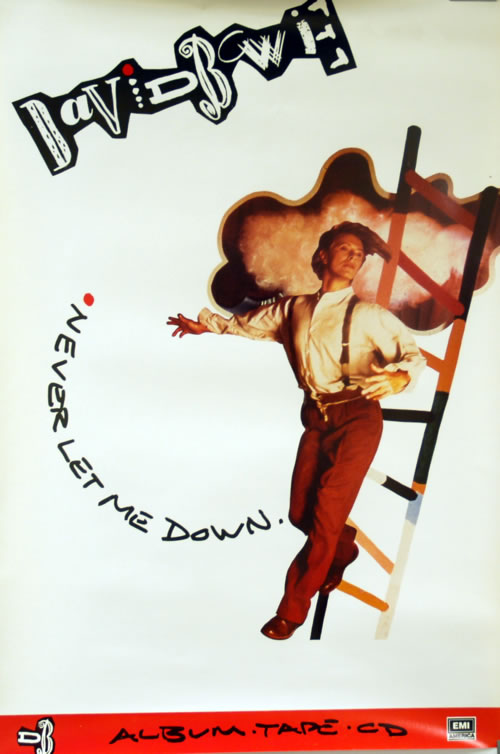 David Bowie Never Let Me Down poster US BOWPONE618081