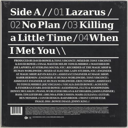 "David Bowie No Plan - Clear Vinyl - RSD17 - Sealed 12"" vinyl single (12 inch record / Maxi-single) US BOW12NO691611"