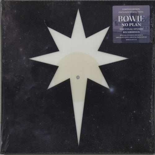 """David Bowie No Plan - White Vinyl - Numbered + Lithograph - Sealed 12"""" vinyl single (12 inch record / Maxi-single) US BOW12NO673830"""