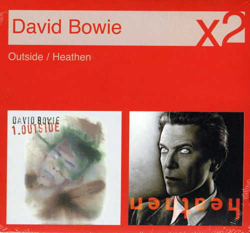 David Bowie Outside / Heathen 2 CD album set (Double CD) UK BOW2COU518713
