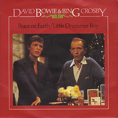 "David Bowie Peace On Earth / Little Drummer Boy - P/S 7"" vinyl single (7 inch record) UK BOW07PE114841"