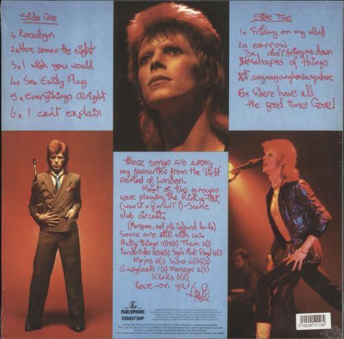 David Bowie Pin Ups - RSD19 - Sealed picture disc LP (vinyl picture disc album) UK BOWPDPI718477