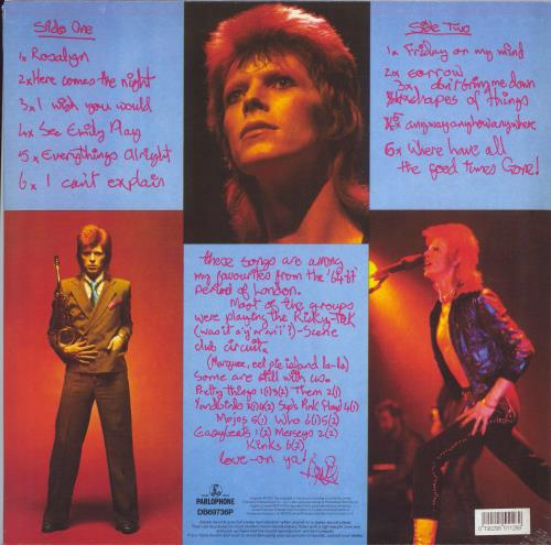 David Bowie Pin Ups - RSD19 picture disc LP (vinyl picture disc album) UK BOWPDPI772630
