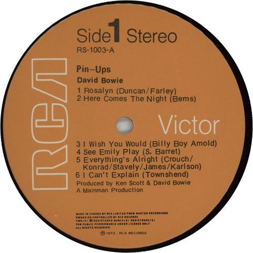 David Bowie Pin Ups vinyl LP album (LP record) UK BOWLPPI266572