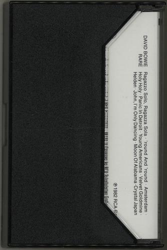 David Bowie Rare - Sealed cassette album German BOWCLRA651260