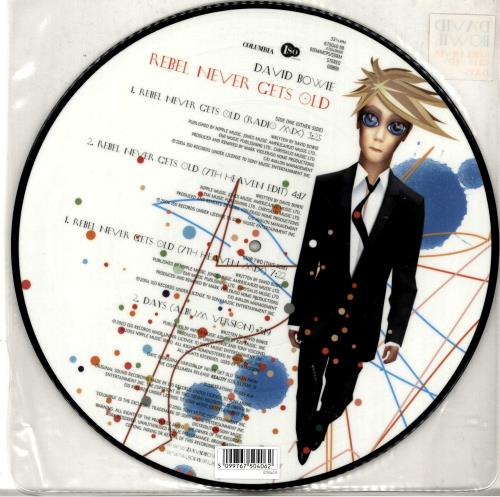 "David Bowie Rebel Never Gets Old 12"" vinyl picture disc 12inch picture disc record UK BOW2PRE291088"