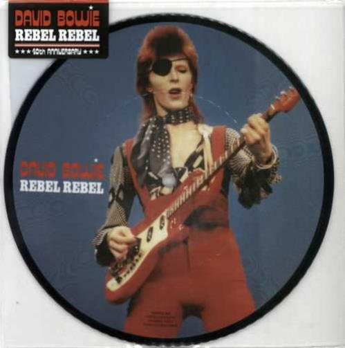 """David Bowie Rebel Rebel - 40th Anniversary 7"""" vinyl picture disc 7 inch picture disc single UK BOW7PRE600400"""