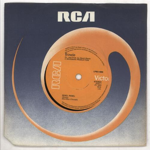 """David Bowie Rebel Rebel - Solid 7"""" vinyl single (7 inch record) French BOW07RE738340"""