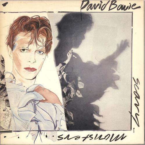 David Bowie Scary Monsters - 1st - EX vinyl LP album (LP record) UK BOWLPSC622756