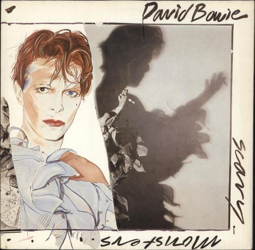 David Bowie Scary Monsters - Ex vinyl LP album (LP record) German BOWLPSC746439