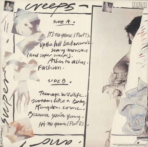 David Bowie Scary Monsters - Sealed vinyl LP album (LP record) US BOWLPSC371980