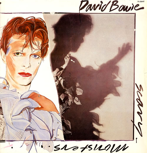 David Bowie Scary Monsters vinyl LP album (LP record) German BOWLPSC556308