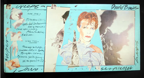 David Bowie Scary Monsters display UK BOWDISC629859