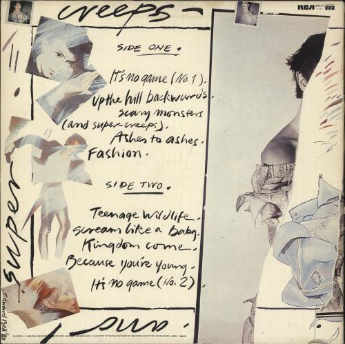 David Bowie Scary Monsters vinyl LP album (LP record) UK BOWLPSC722084